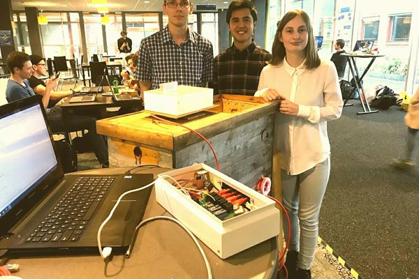 Tembo interns make automated bee monitor for our beehives